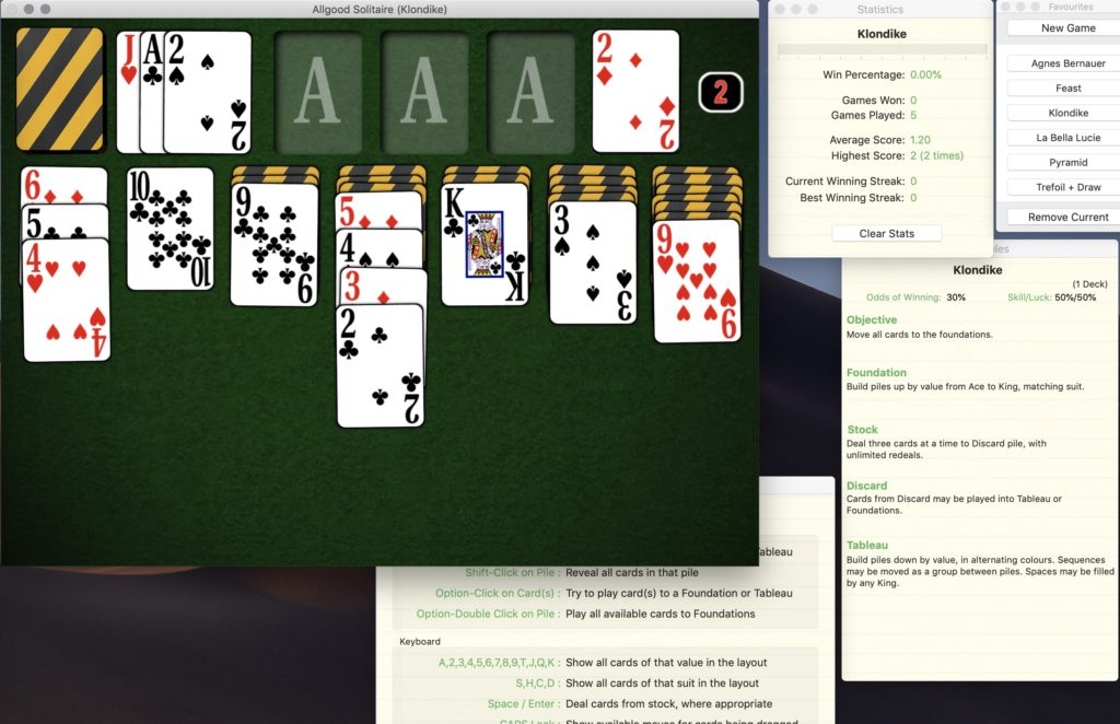 Solitaire (Mac OS X) | Allgood Software